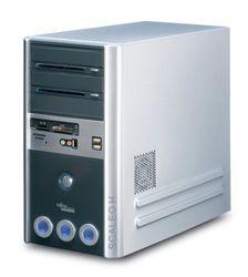 Fujitsu Scaleo Hid Desktop-PC (Intel Core 2 Duo E6300, 2 GB RAM, 250GB HDD, DVD+-RW DL, ATI X1650PRO, XP Media Center incl. afstandsbediening)