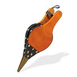 Relaxdays Fuelle de soplado para Barbacoa y Chimenea, diseño rústico, Clavos Dorados, soplador de Aire, 39 cm de Largo, Color marrón/Negro