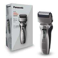 Panasonic ES-RW33-H503 Nass/Trocken-Rasierer, inklusiv Ladestation, 2-Fach-Scherkopf, Wet & Dry Silber