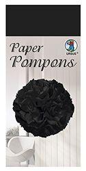 Paper Pompons, zijdepapier, 50 x 70 cm, 10 vellen in de kleur zwart