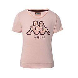 Kappa Bibi T-Shirt für Mädchen Einheitsgröße Grau/Schwarz/Rot
