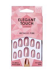 Elegant Touch Farbige Kunstnägel – Metallic Pink