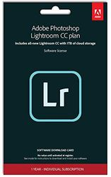 Adobe Lightroom 1TB english | 1 Year | PC/Mac | Key Card & Download