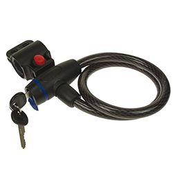 PEREL - SLKB02 Spiralkabelschloss mit Schlüssel, 12 mm Durchmesser, 650 mm Länge 145891