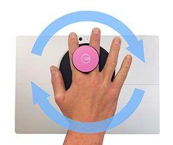 G-Hold Soporte para Tablet - Desarrollado para Microsoft Surface - Base de la Marca Velcro® - Rosa