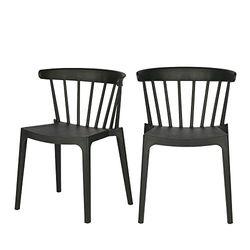 WOOOD Bliss Bars Stuhl Plastik, Schwarz, Breite: 52 cm Tiefe: 53 cm Höhe 75 cm