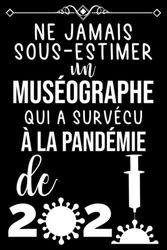 NE JAMAIS SOUS-ESTIMER UN MUSÉOGRAPHE QUI A SURVÉCU À LA PANDÉMIE DE 2020: CARNET DE NOTES CADEAU POUR UN MUSÉOGRAPHE