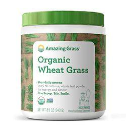 Amazing Grass BIO Weizengrass, Vollwertzutaten vs. Saftpulver, Spitzenqualität, 240 g