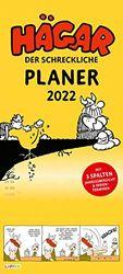 Hägar der Schreckliche - Planer 2022: Monatskalender für die Wand: Praktischer Wandkalender für Familien oder WG mit 3 Spalten zum Eintragen