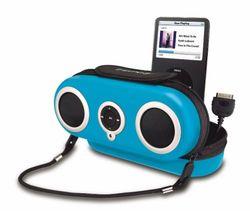 SDI iHome2go iH19 beschermtas en luidsprekersysteem voor Apple iPod blauw