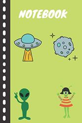 Notebook: Lined Journal Notebook For Kids Girls Boys (aliens) 120 Pages .