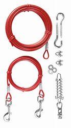 TRIXIE 2 Cables plastificados, muelle, Extra, 15 m, Rojo, Perro