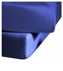 fleuresse Jenny C klassiek jersey hoeslaken, 100% katoen, met praktisch elastiek rondom, kleur koningsblauw, afmeting 200 x 200 cm, ook geschikt voor 180/190 x 200