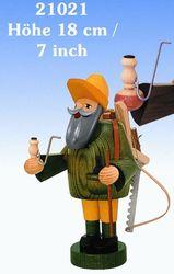 KWO Roken Heren Wierook Houthouder, 18 cm, Hout, Multi kleuren, One Size