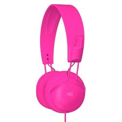 XQISIT Over-ear stereo headset, roze