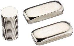 First4magnets F307-20 10 mm diameter x 1 mm dikke N42 neodymium magneten - 0,58 kg trekken (verpakking van 20), zilver, 25 x 10 x 3 cm, stuks