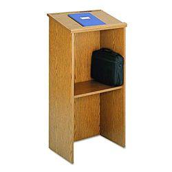 Safco 8915MO - Atril de madera de roble