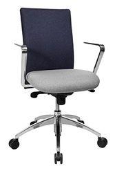 Topstar CO19RL538 bureaustoel Commander, 55 x 56 x 111, lichtgrijs/donkerblauw