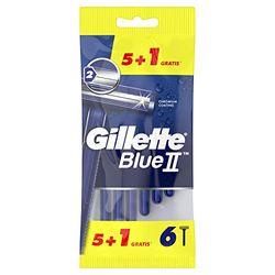Gillette BlueII Maquinillas desechables para hombre - Pack de 5+1