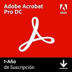 Adobe Acrobat DC   Pro   1 Año   PC/Mac   Código de activación enviado por email