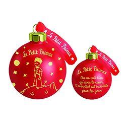 Der kleine Prinz Lotto 10 Aufhängungen aus rotem Glas Rotgold, kleines Prinz, 7,5 cm