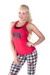 FA Sportswear Basic damestanktop, rood, S