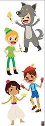 PLAGE decoratieve muurstickers voor verhalen en kinderen, 24 x 68 cm, vinyl, kleurrijk, 68 x 0,1 x 24 cm