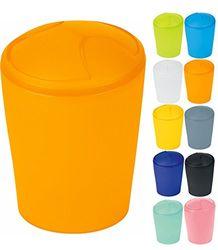 "Spirella Cosmetica-emmer""Move"" afvalemmer schommeldeksel emmer | plastic | 2 liter en 5 liter | oranje"