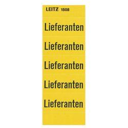 Leitz 15080000 inhoudbord leveranciers, zelfklevend, 100 stuks, geel