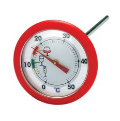 Wijnthermometer met Siliconen Stopper Rood