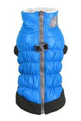 Hip Doggie HD-5SCBL Crown Puffer Vest Hundemantel, L, blau