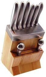 Tarrerias Bonjean -418810-Bloc Bois-Metal + Hachoir inox - 5 Couteaux de cuisine, 1 Fusil, 1 Hachoir - Inox trempe