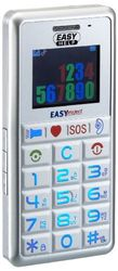 EASYHELP, zilver grote toetsen telefoon met SOS-knop