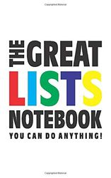 The Great Lists Notebook (U kunt alles doen!): (White Edition) Fun notebook 96 gerold/gelinieerde pagina's (5x8 inch/12,7x20,3 cm/Junior Legal Pad / Nearly A5)