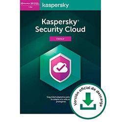 Kaspersky Security Cloud - Family   20 Cuentas de usario 20 Dispositivos   1 Año   PC / Mac / Android   Código de activación vía correo electrónico