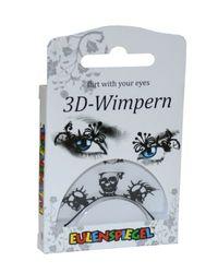 Eulenspiegel 3107-3D Wimpern, Totenkopf, schwarz