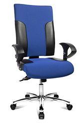 Topstar TF29US106 bureaustoel Two 20 Deluxe met in hoogte verstelbare armleuningen U2 OPA, stoffen bekleding, blauw/zwart