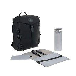 Lässig 1103026000 - Mochilas para pañales / green label outdoor backpack negro, unisex Lot de 1
