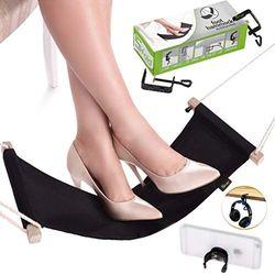 5fold Products Fußhängematte für den Schreibtisch, verstellbar, für alle Schreibtischarten, Schwarz