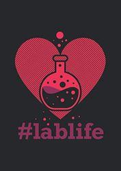 A4 Notizbuch liniert mit Softcover Design: Lablife Laborleben mit Herz und Liebe für Chemie Chemiker: 120 linierte DIN A4 Seiten