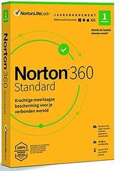 Norton 360 Standard 2021, antivirussoftware, internetbeveiliging, 1 Apparaat, 1 Jaar, Secure VPN en Password Manager, PC, Mac, tablet of smartphone, envelop, past in de brievenbus