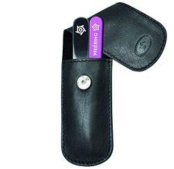 Pfeilring Zaketui voor volwassenen, 2-delig, nagelvijl, pincet, nappa zwart verzorging, meerkleurig, één maat
