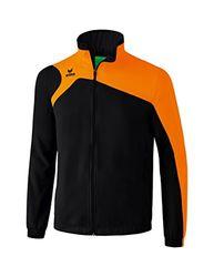 erima Kinder Präsentationsjacke Club 1900 2.0 Präsentationsjacke, schwarz/orange, 140, 1010708