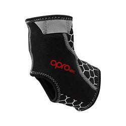 OPROtec Neopren-Knöchelstütze mit Greifer - Bei Schmerzen, Verstauchungen und Sehnenentzündungen - Für den rechten oder linken Fuß, geeignet für den täglichen Gebrauch (Groß)
