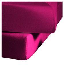 fleuresse Jenny C klassiek jersey hoeslaken, 100% katoen, met praktisch elastiek rondom, kleur roze, afmeting 100 x 220 cm, ook geschikt voor 90 x 200