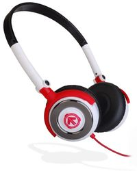 Aerial7 01-1801-00 Metro Circuit on-ear hoofdtelefoon met microfoon wit/rood