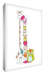 """Feel Good Art GIRICE-A6BLK-12ES Decoratief blok van acryl, motief """"Lord Giraffe en heer Buho met een ijs"""", 10,5 x 15 x 2 cm, meerkleurig"""