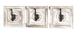 HAKU meubel garderobelijst, massief hout, helder, 58 x 9 x 18