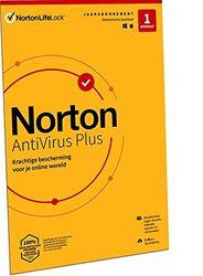 Norton Antivirus Plus 2021, antivirussoftware, internetbeveiliging, 1 Apparaat, 1 Jaar, PC of Mac