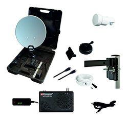 Opticum Camping balkon HDTV satellietsysteem (incl. HD X300 mini satellietontvanger, single-LNB, kabel (10 m), HDMI-kabel)